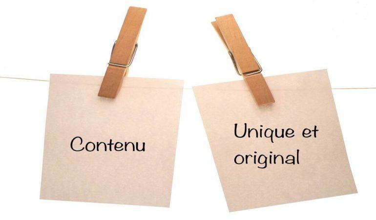 Créez une grande valeur avec un contenu unique